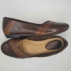 EARTH Shoes Flats Landmark Brown Bark Leather 9 B